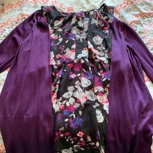 Torrid blouse with matching cardigan